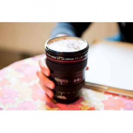 Canon Tea Coffee Cup Lens Camera Mug