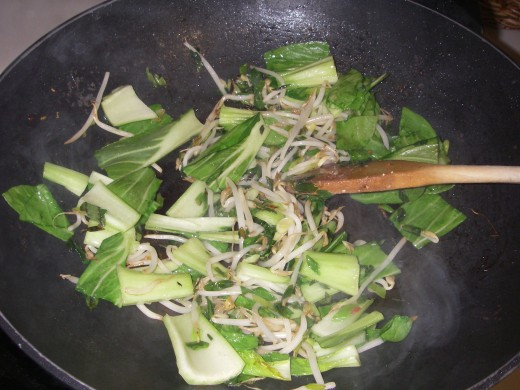 Add Bok Choy and fry for further 2 minutes