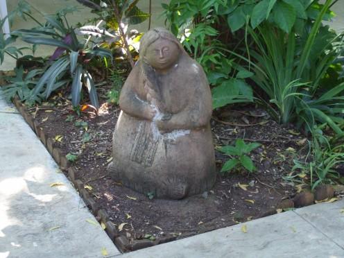 Garden statue at Merida, Mexico English Library