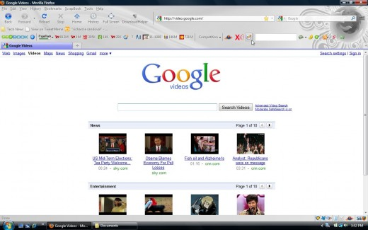 Google Video Main Page