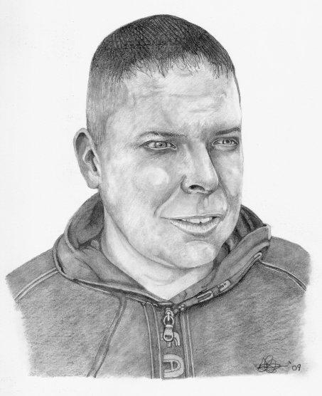 Self portrait by thr artist Dave Harris