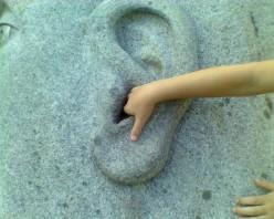 """""""Lend me your ear."""" Image taken at DeCordova Art Museum's Sculpture Park"""