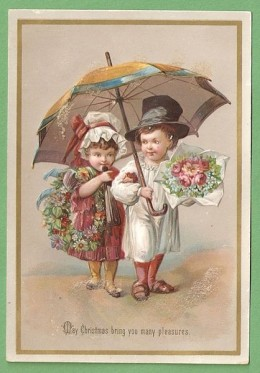1885, Victorian Greeting card