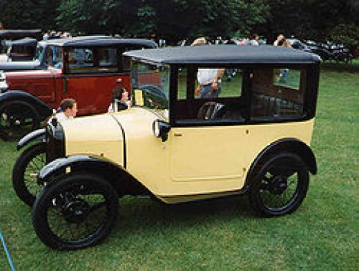 1926 Austin Seven box saloon photographed by Malcolm Asquith