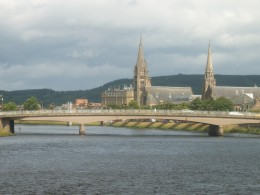 River Ness at Inverness Scotland Highlands