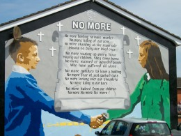Mural painted on house wall Belfast