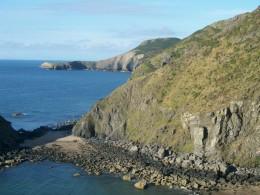 Rugged coast  of Wales