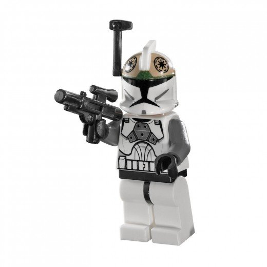 LEGO Star Wars 8014 Clone Walker Battle Pack - the Clone Gunner sporting the rangefinder