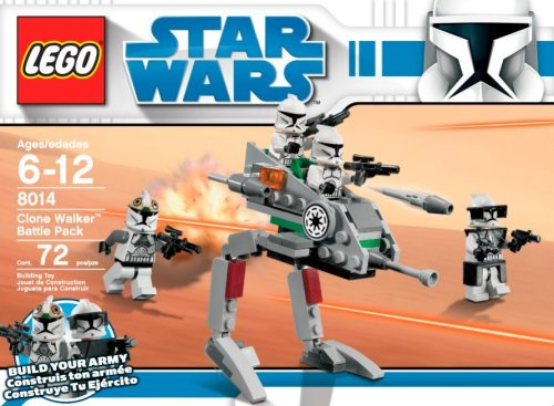LEGO Star Wars 8014 Clone Walker Battle Pack box closeup