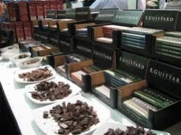 Guittard chocolates at a food festival tasting.
