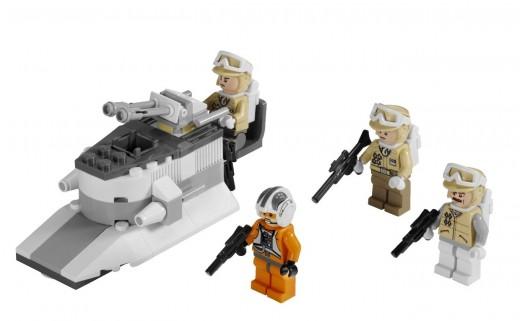 LEGO Star Wars 8083 Rebel Trooper Battle Pack set contents