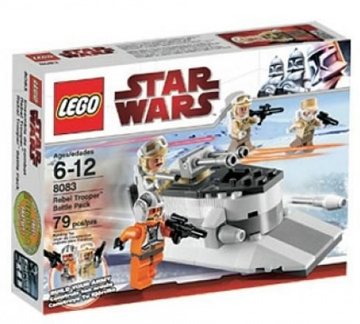 LEGO Star Wars 8083 Rebel Trooper Battle Pack box