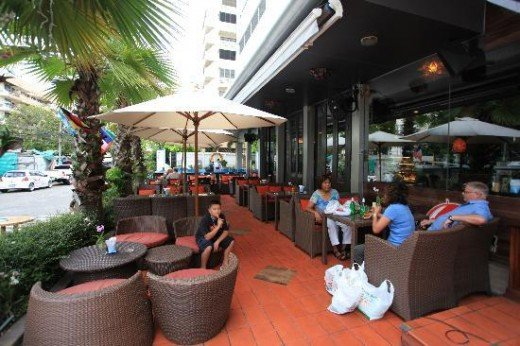 Monsoon Cafe at lobby of Adelphi Suites - It is also a bar and doubles as a breakfast area in the morning