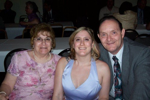 Mom, Dad and me.
