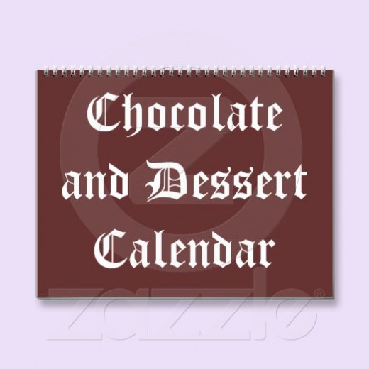 Being a Chocoholic, this is my favorite calendar located on Sandyspider Gifts under the Calendars product line in Zazzle.
