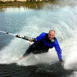 The world's most durable barefoot dry suit and wakeboard drysuit