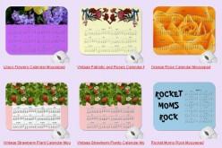 Custom Calendar Mouse Pads