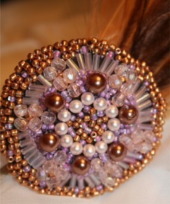 HAIR ACCESSORIES - Faux Vintage Broach Hair Jewelry on Hair Clips, Headbands, and Hair Pins
