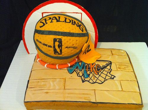 3-D Basketball Cake