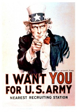 This poster is familiar to every American and many people outside of the US. It is seen as the quintessential recruiting poster.