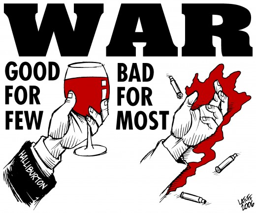 Then there is the other side of the argument; the one that tells the story of the class war behind the conscription to fight in a war, where profits are made on mayhem and mass murder.