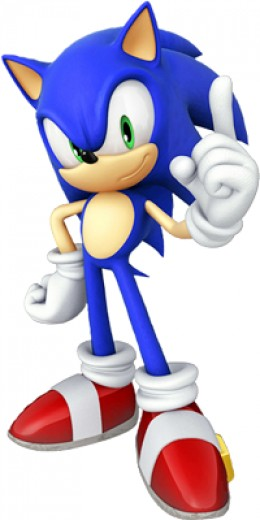 Sonic the Hedgehog Picture - One of the most famous video game characters of all time.  His games have sold over 70 million copies and he is Sega's Mario!