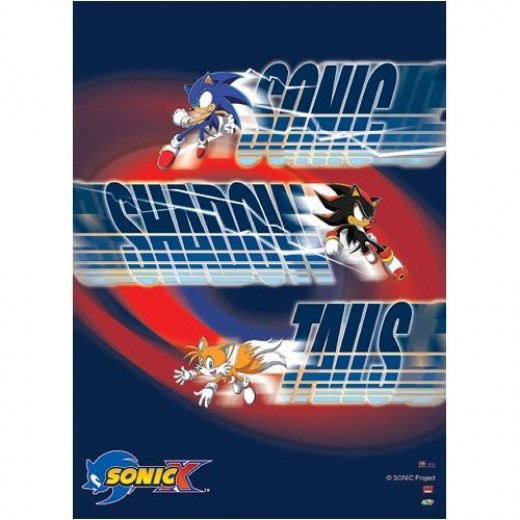 Sonic X Poster with Shadow and Tails