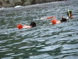 Snorkeling near offshore islands.