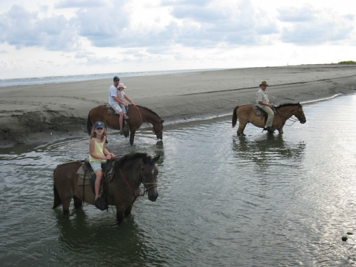 You can also go horseback riding on Playa Tortuga.