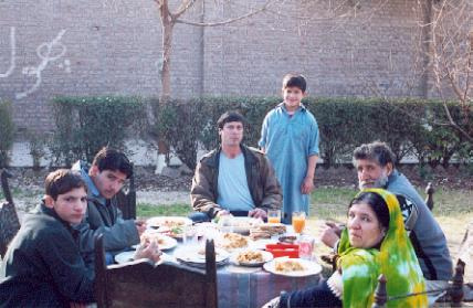 eating outside in Peshawar