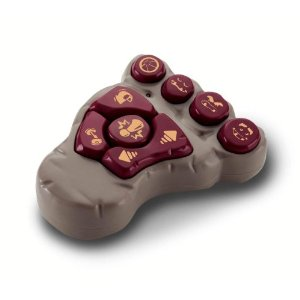 Foot-shaped remote control, easy-to-understand buttons for kids