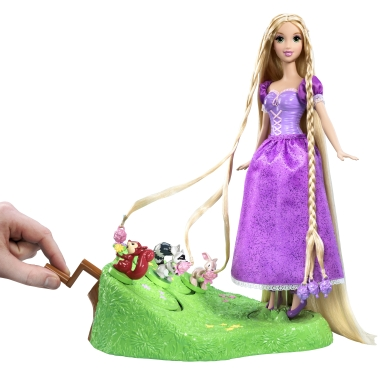 Princess Barbie Doll Rapunzel Help the animal friends braid Rapunzel's long, beautiful hair!