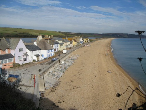 The sandy beach at Torcross.