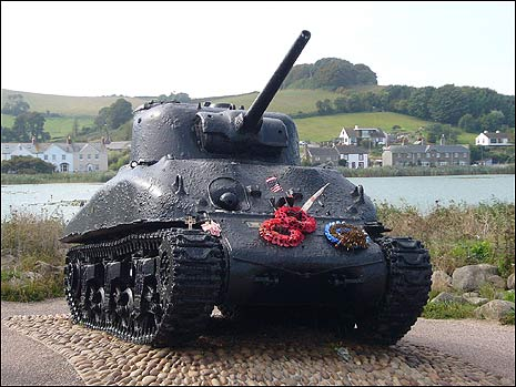 Sherman tank recovered at Torcross
