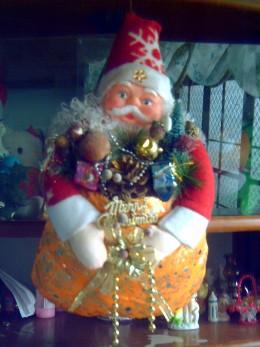 My Santa Claus Christmas wreath (Photo by: Ireno Alcala)