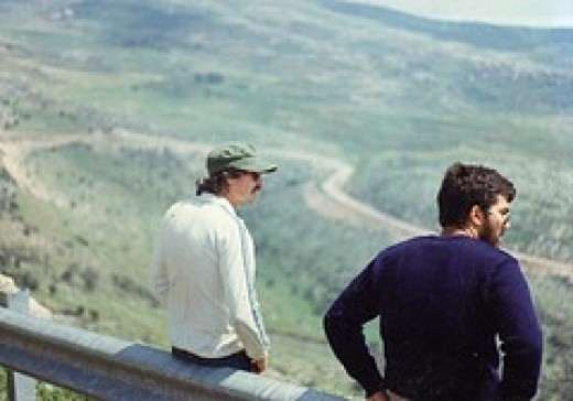 overlooking the Galilee in Israel 1980