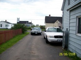 My cozy house and cop car in Cape Breton