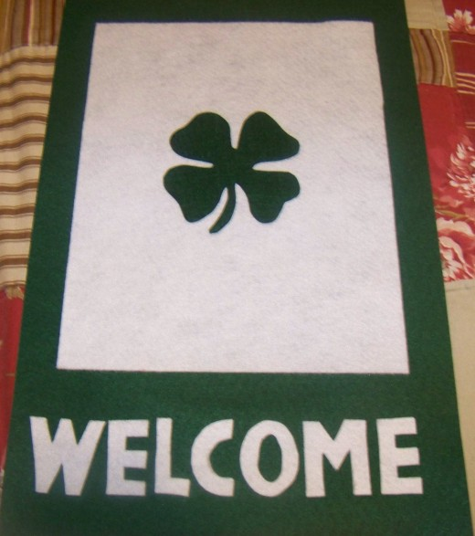 St. Patricks Day Door Sign