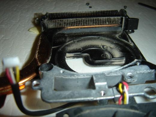 Dust inside the fan