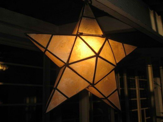 A simple parol made out of capiz shells (Photo by: Eugene Alvin Villar)