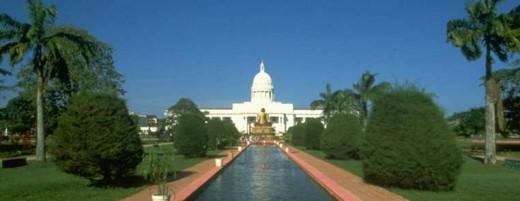 Colombo Town Hall in front of Vihara Maha Devi Park (Formerly Victoria Park), Colombo, Sri Lanka