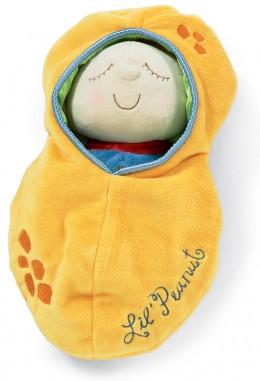 Snuggle Pod Lil Peanut fast asleep in the pod
