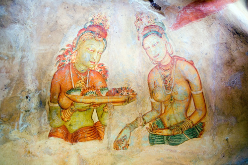 Frescoes - Sigiriya UNESCO World Heritage Site