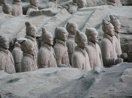 China Emperor's Terra Cotta Army Tours the World Reminds me of the Underwater Sculptures