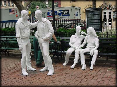 George Segal Exhibition of Life Size Plaster Molds Depicting Daily Life In The City