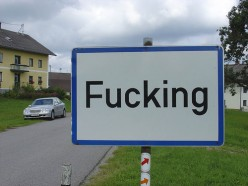 An Unusual Town Name in Austria, F*cking