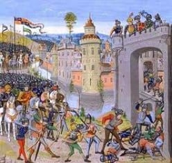 The seige at Harfleur, 1415