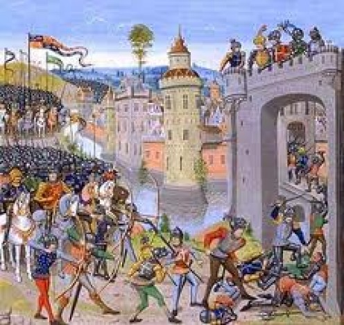 The seige at Harfleur, 1415
