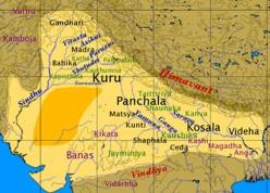 Map of Vedic India