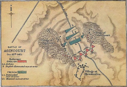 Agincourt  battle map